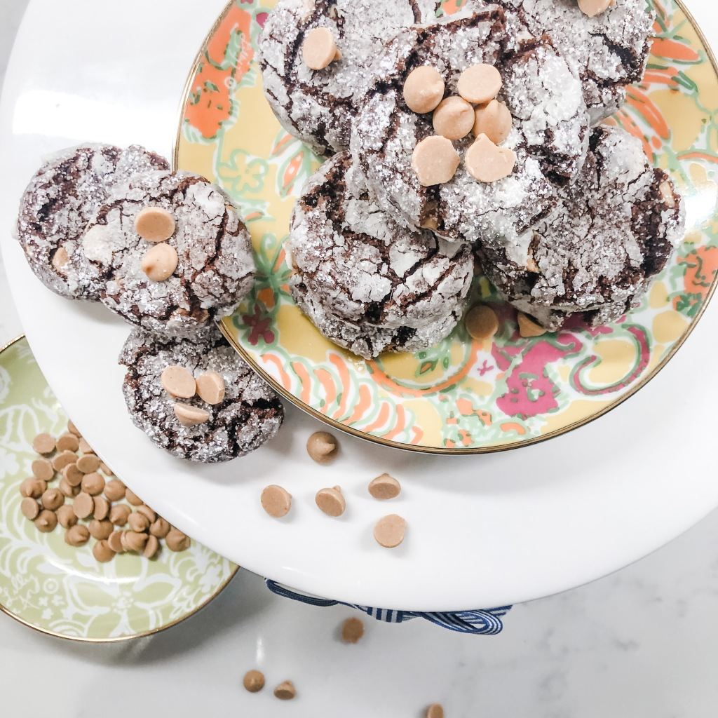 One Southern Belle Peanut Butter Crinkle Cookies