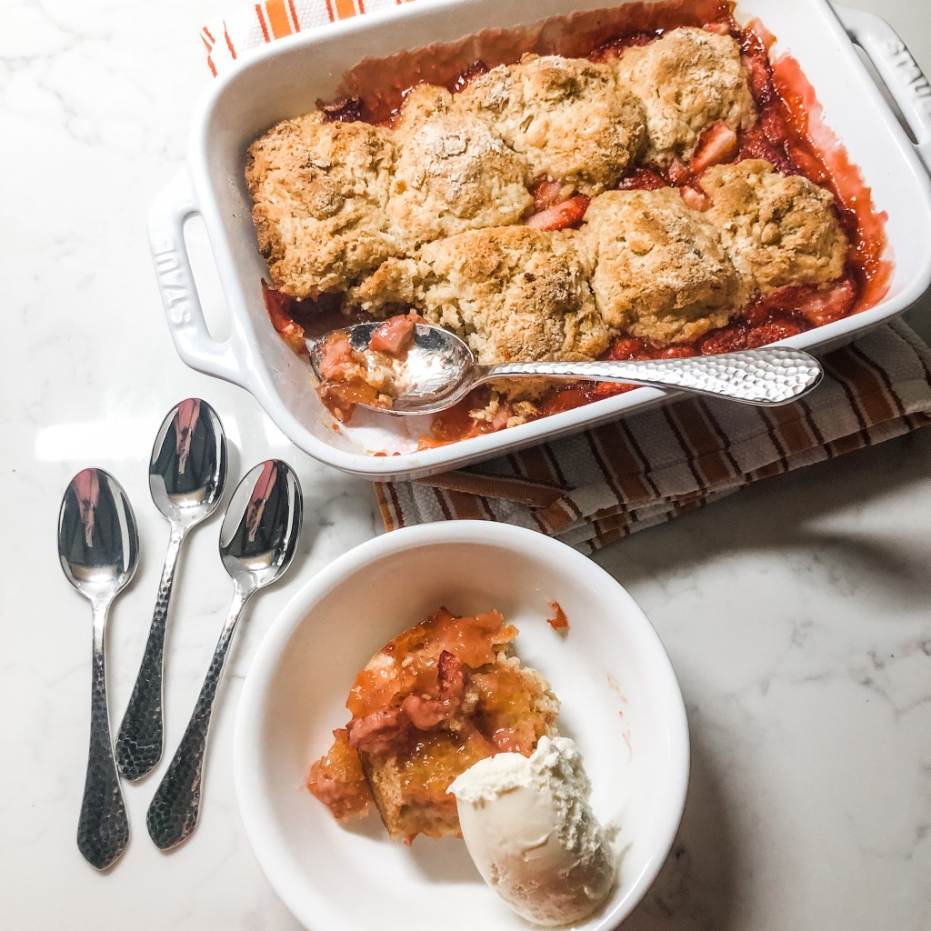 One Southern Belle Strawberry Cobbler